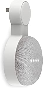 Outlet Wall Mount Holder for Google Home Mini and Google Nest Mini, Perfect Space-Saving Cord Management for Google Home Mini Voice Assistant (1 Pack)
