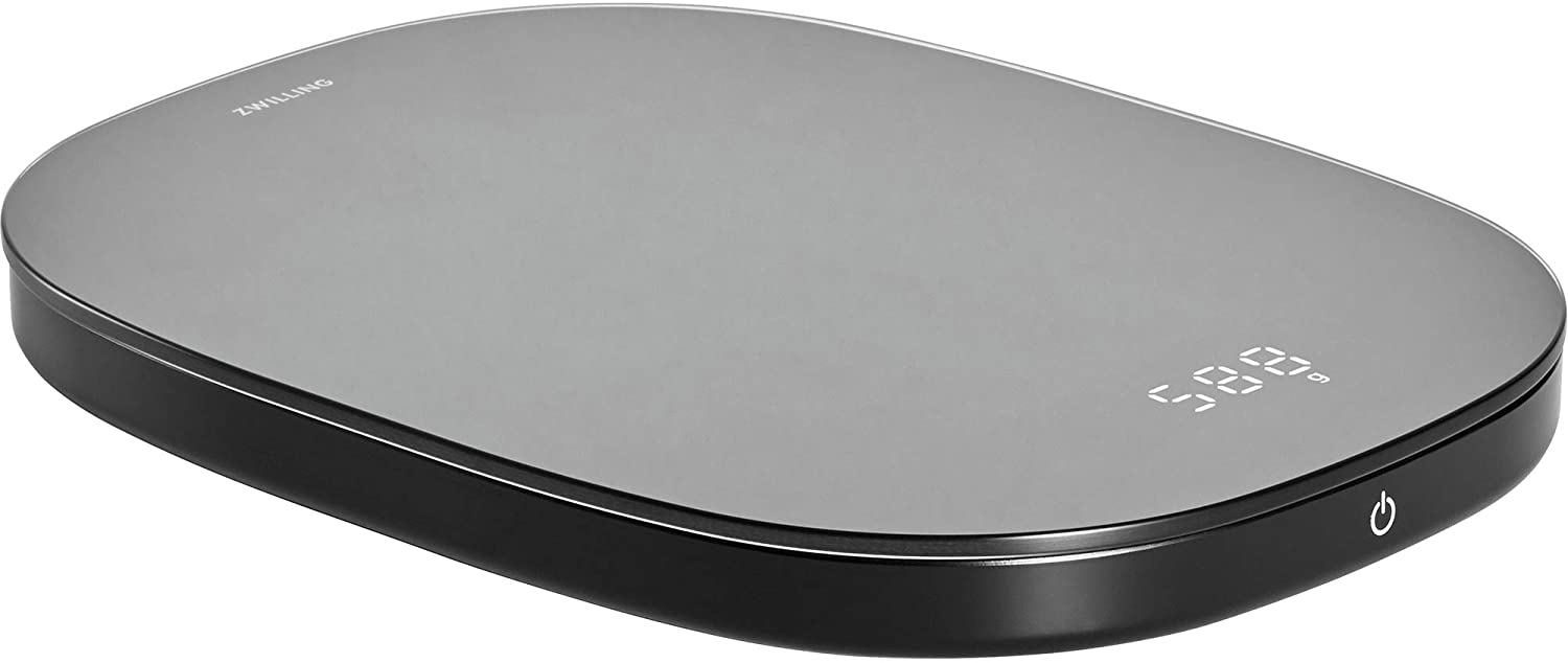 Zwilling Enfinigy Digital Food Scale, Max Weight 22 lbs, Grams & Ounces, .1 gram Accuracy,Baking Scale, Kitchen Scale, Black