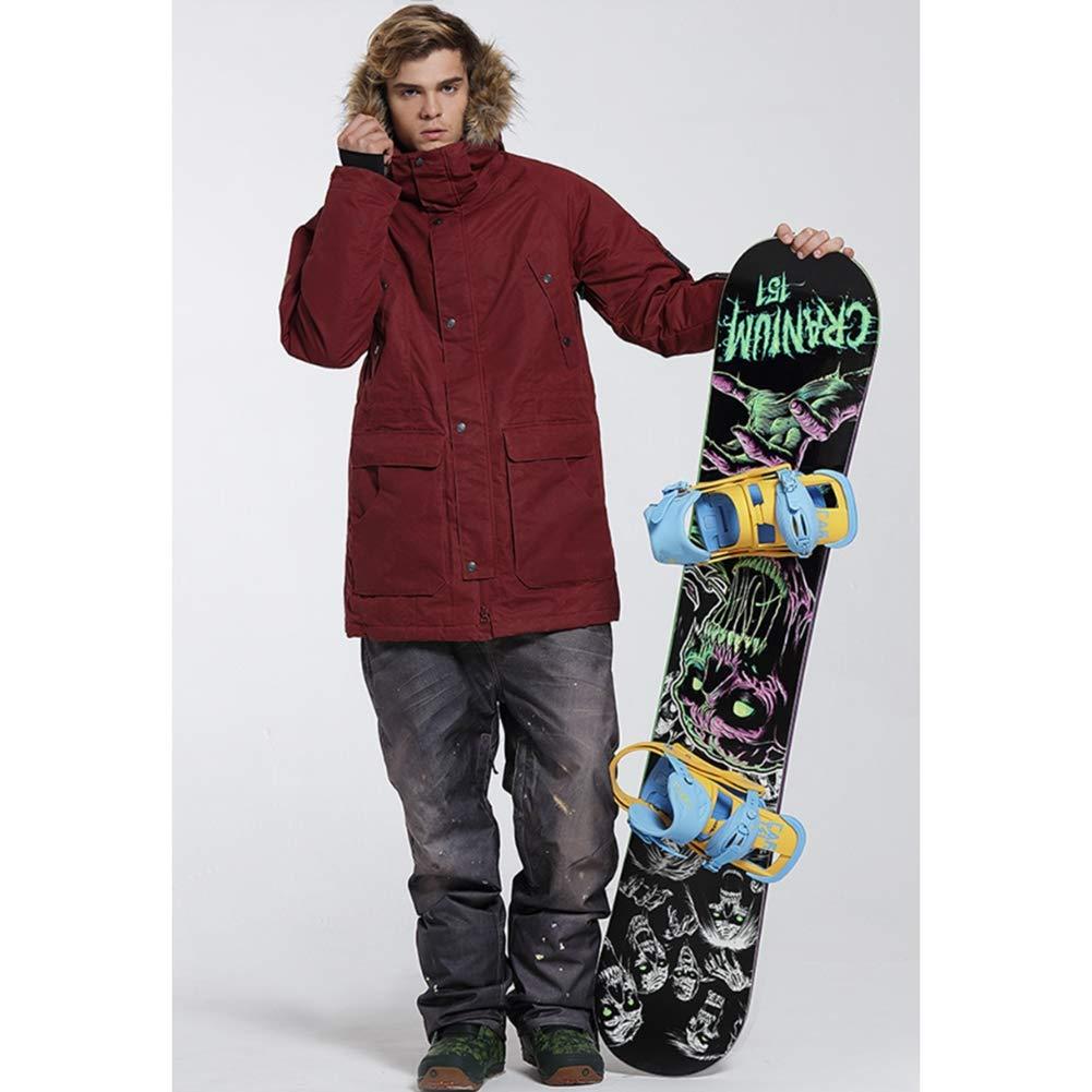 HXRYFC Chaqueta de esquí, Hombres Impermeable a Prueba de Viento Chaquetas de Nieve con Tapa extraíble montaña de Snowboard al Aire Libre Deportiva Caliente ...