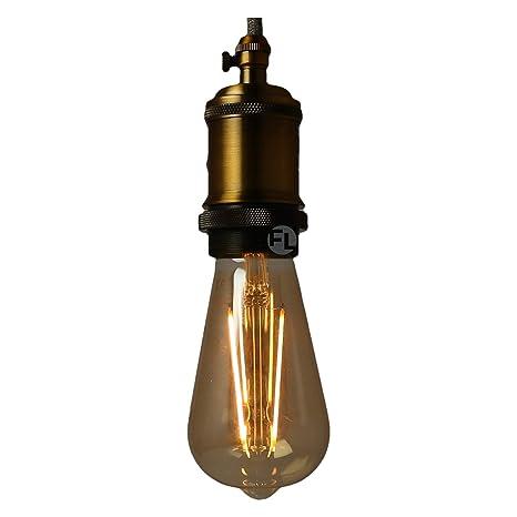 Bombilla LED E27 Edison Vintage Oro ST64 4 W 2000 K 400 lm antigoteo retro adecuado