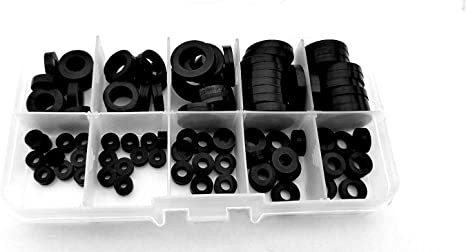 "1//4/"" Washer 3//4/"" OD 1//16 thk Nylon Plastic Insulating Fastener C18049"