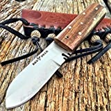 New RED DEER Full Tang Western Style Fixed Blade Patch EcoGift Knife With Sharp Blade Leather Sheath Tactical