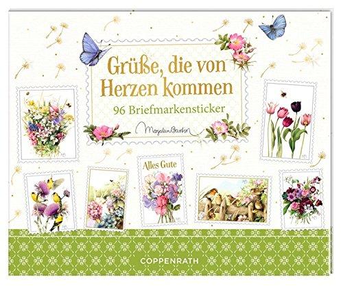 Stickerbuch - Grüße, die von Herzen kommen: 96 Briefmarkensticker