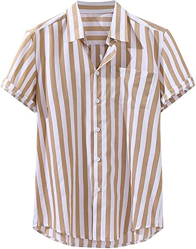 Camisas Hombre Verano Tallas Grandes Manga Corta Raya Impresión Moda Casual T-Shirt Blusas Camisas Camiseta Originales Playa Hombre Camisas Suave básica Camiseta Top vpass: Amazon.es: Ropa y accesorios