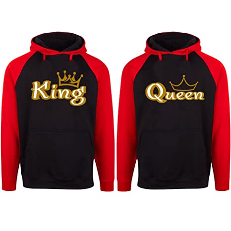 SR Gold King And Queen Couple Hoodies