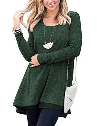 FeelinGirl Blusa Camisa Falda Mangas Largas Encaje para Mujer: Amazon.es: Ropa y accesorios