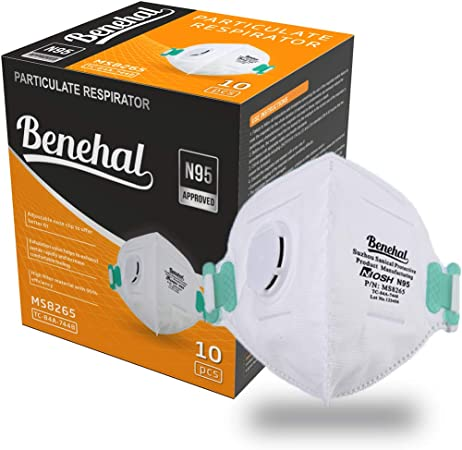 Construction Valve Benehal Disposable Mask Kits emergency Protection With mowing 10 Certified-multi-layer Pack Mask For n95 Dust -niosh