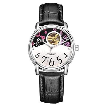 North King Cuarzo Relojes Fecha Pantalla Mujer Reloj Reloj automático Cuero Moda Relojes agradables Banda para