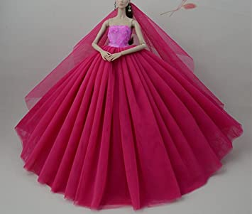 Beautiful Fashion Clothes Dress For Doll Princess Doll Wedding Gown