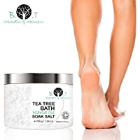 Tea Tree Foot Soak Salt with Epsom Salt, Fights Athletes Foot and Nail Fungus, Helps to Soften Calluses 700g / 1.54 Lb