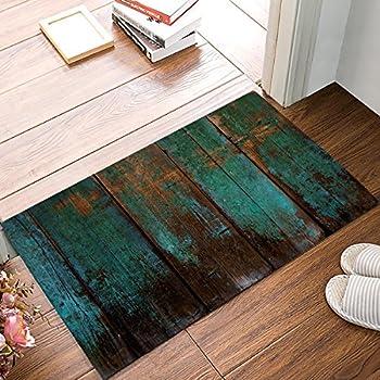 Amazon.com: Alfombrillas de puerta rústicas de madera de ...