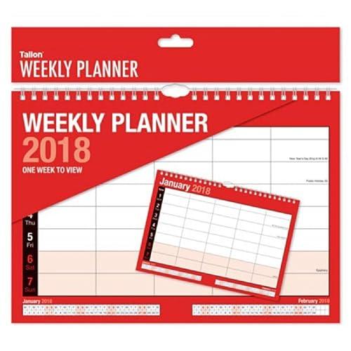1x 2018 Weekly Planner- Week to View