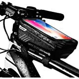 UIHOL Bolsa de Movil Bicicleta Manillar, Soporte Impermeable Accesorios Bicletas Porta Bike Montaña Frame Bag, Táctil de…