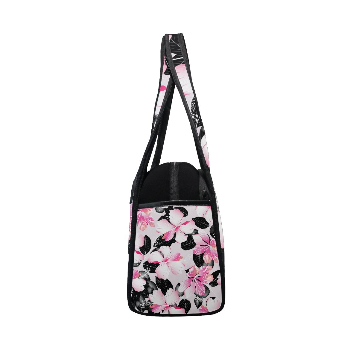 AHOMY Canvas Sports Gym Bag Tropical Flower Travel Shoulder Bag