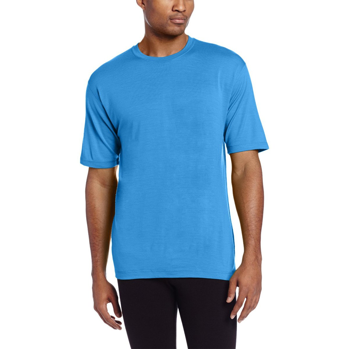 Minus33 Merino Wool Men's Algonquin Lightweight Short Sleeve Crew, Azure Blue, X-Large