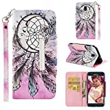Samsung Galaxy J7 Star,J7v 2nd Gen,J7 2018,J7 Refine Case Kickstand Flip Nice Practical Wallet Cover Shell with Credit Card Slot and [Magnetic Closure] For Galaxy J7 2018(US Edition) (Angel dream net)