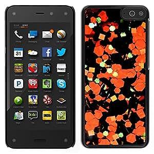 Stuss Case / Funda Carcasa protectora - Arte Abstracto Papel Naranja Negro; - Amazon Fire Phone