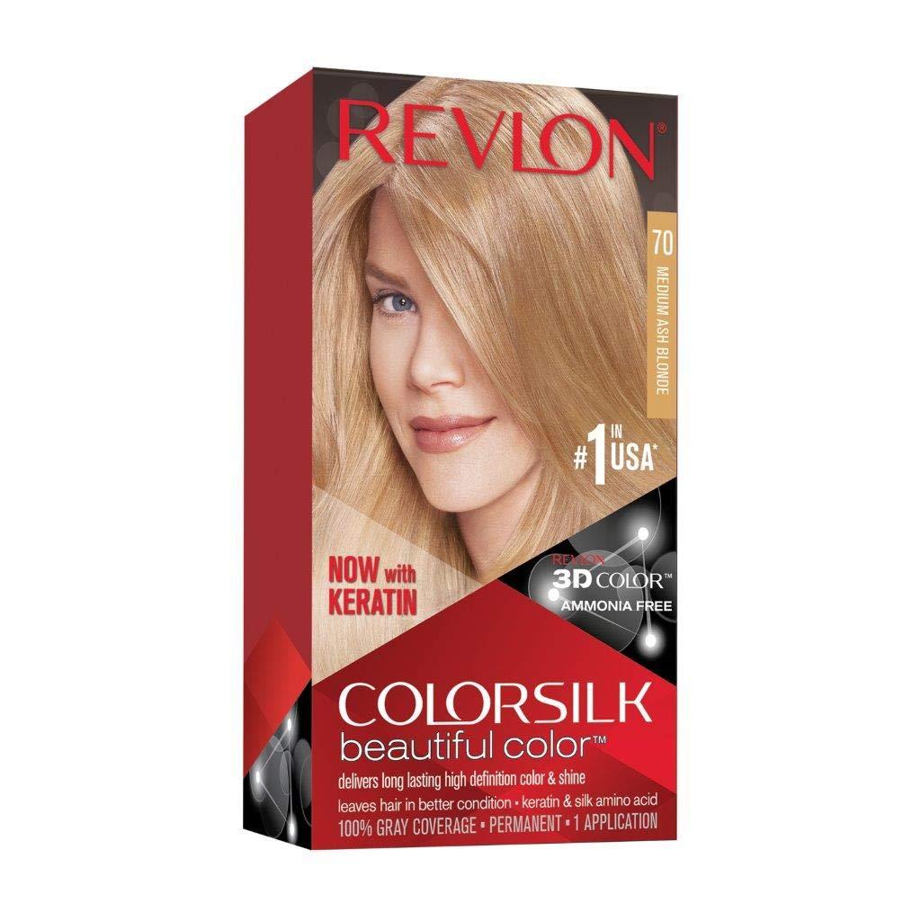 Revlon Colorsilk Tinte #70-Rubio Medio Ceniza - 5 ml: Amazon.es