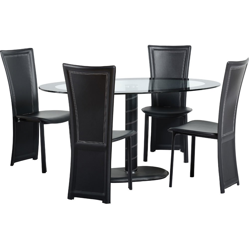 Cameo 5 Piece Oval Dining Set: Amazon.co.uk: Kitchen & Home
