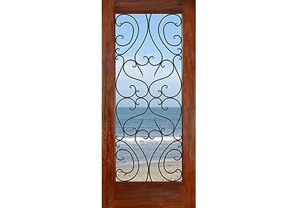Eto Doors Spain Exterior Mahogany Wood Full Lite French Entry Door