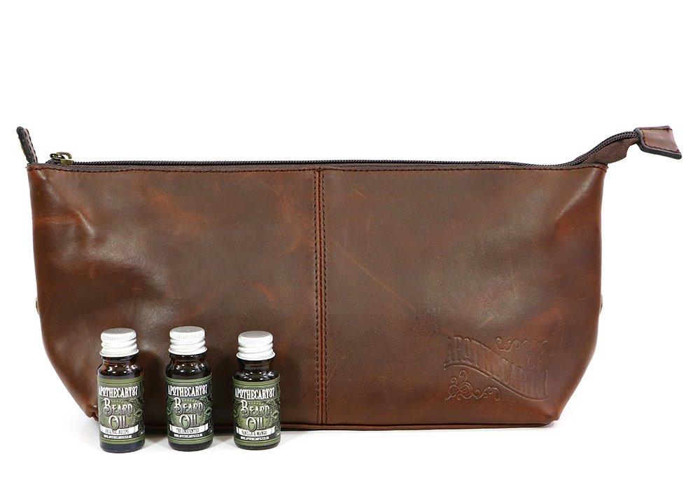 Apothecary87 Leather Wash Bag Beard Kit