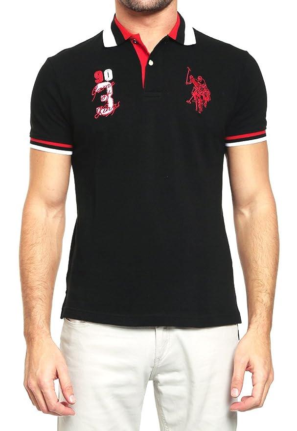 US Polo ASSN Playera tipo Polo Negra Polo para Hombre Negro Talla S   Amazon.com.mx  Ropa 31da716bc705e