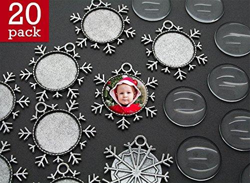 Makes 20 Snowflake Photo Christmas Ornaments Kit -