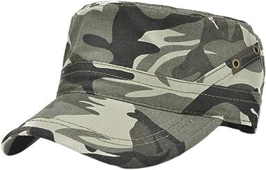 Leisial Gorra Plana Casquillo del Algod/ón Estilo Vintage Ejercito del Visera de Sol Sombrero Beisbol Deportes al Aire Libre para Hombre Mujer