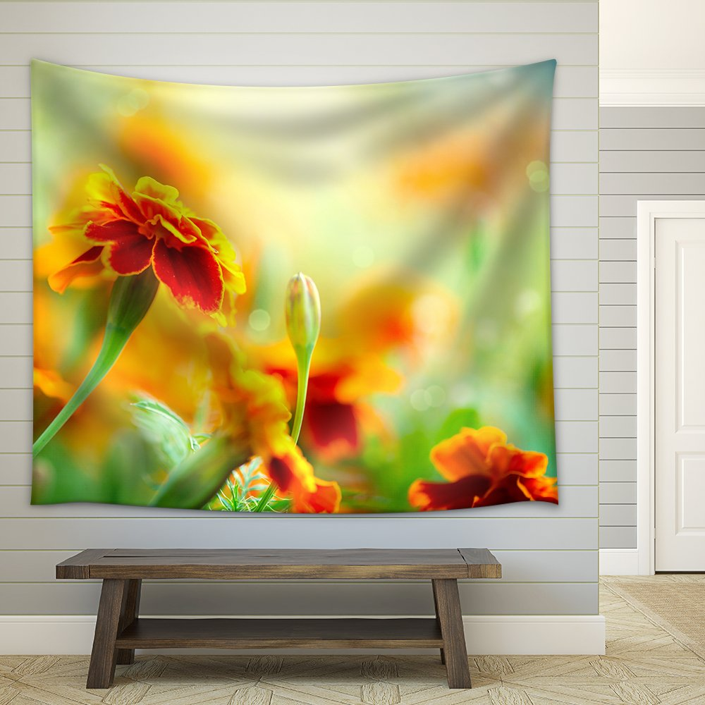 Tagetes Marigold Flower Autumn Flowers Background Fabric Wall ...