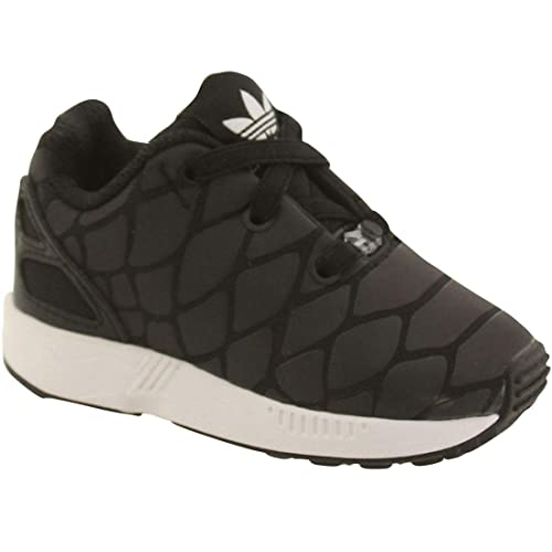 sale retailer fb5c0 d909e ZX Flux Xenopeltis CF I Toddler in Black/Black by Adidas, 4 ...