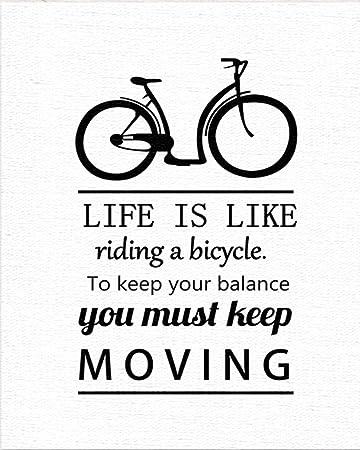 Ufengke Keep Moving Fahrrad Zitate Und Sprüche ölgemälde Malerei