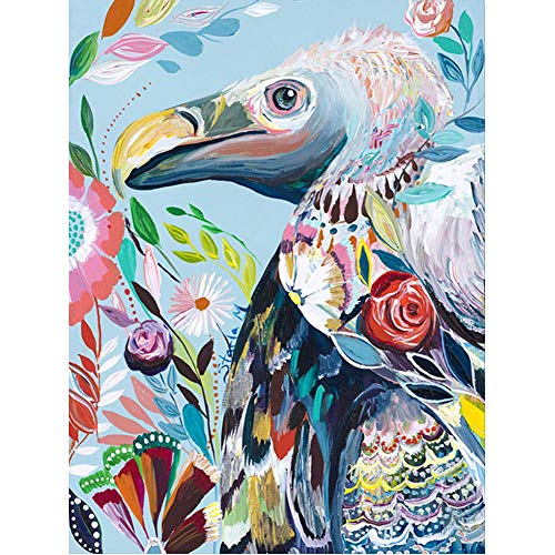 - DIY 5D Diamond Painting by Number Kits, Painting Cross Stitch Full Drill Crystal Rhinestone Embroidery Pictures Arts Craft for Home Wall Decor Gift Coloured Bird Flamingo Turkey (J4658-11.8X15.7in)