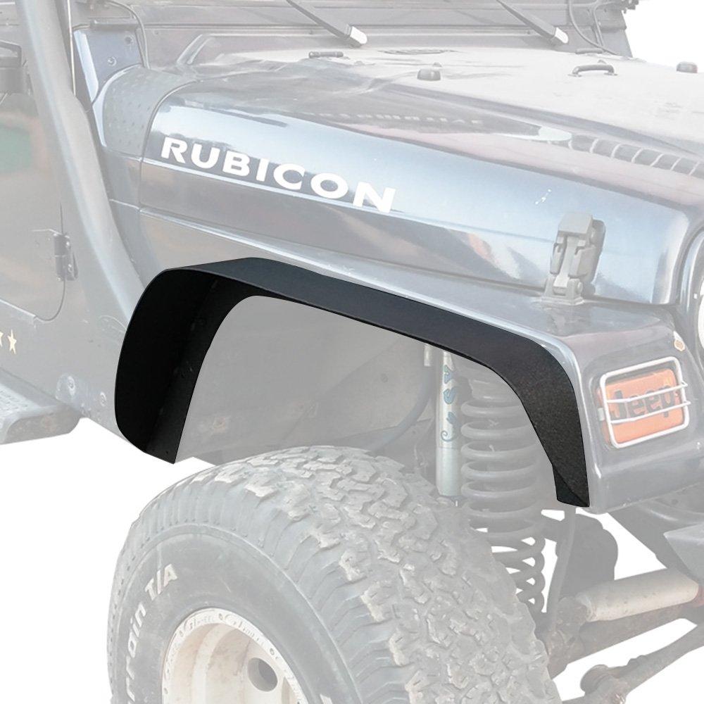 Off Road Steel Flat Front & Rear Fender Flares Guard for 1997-2006 Jeep Wrangler TJ Wrangler Unlimited - Set