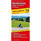 Bodensee, Allgäu - Ostschweiz - Vorarlberg: Motorradkarte mit Ausflugszielen, Bikertreffs und Einkehrtipps sowie Tourenvorschlägen, wetterfest, ... GPS-genau. 1:200000 (Motorradkarte / MK)