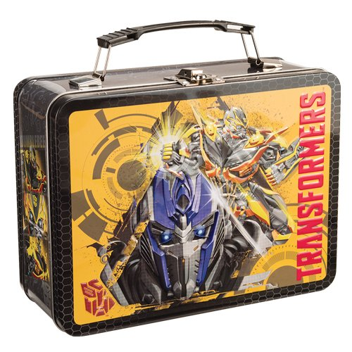Vandor 41170 Transformers Movie Heroes Large Tin Tote, - Lunch Box Metal Transformer