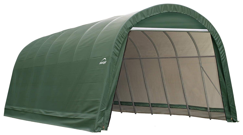 ShelterLogic Garage 15 x 28 x 12  Round Standard Green 95334