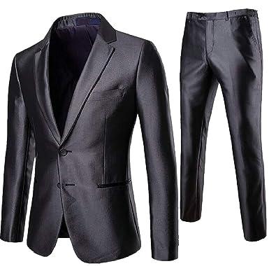 dahuo Traje de Dos Botones para Hombre, Pantalones de Vestir ...