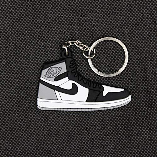 Key Chains - Mini AJ1 Key Pendant Classic Color Jordan 1 Generation Sneakers Key Chain Custom aj Keychain Basketball Shoes Key Ring for Men - by YPT - 1 PCs