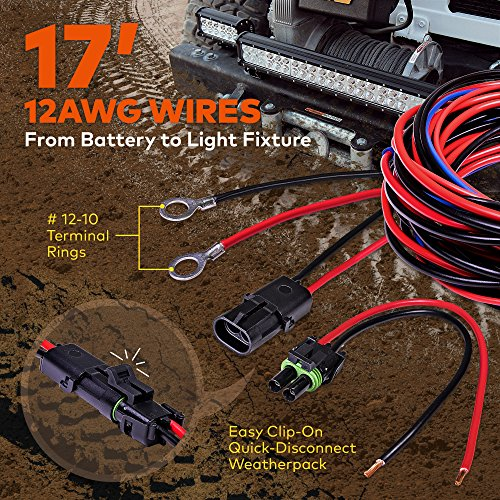 61GhNGfj06L amazon com lamphus 17' off road atv jeep led light bar wiring Wiring Harness Diagram at panicattacktreatment.co