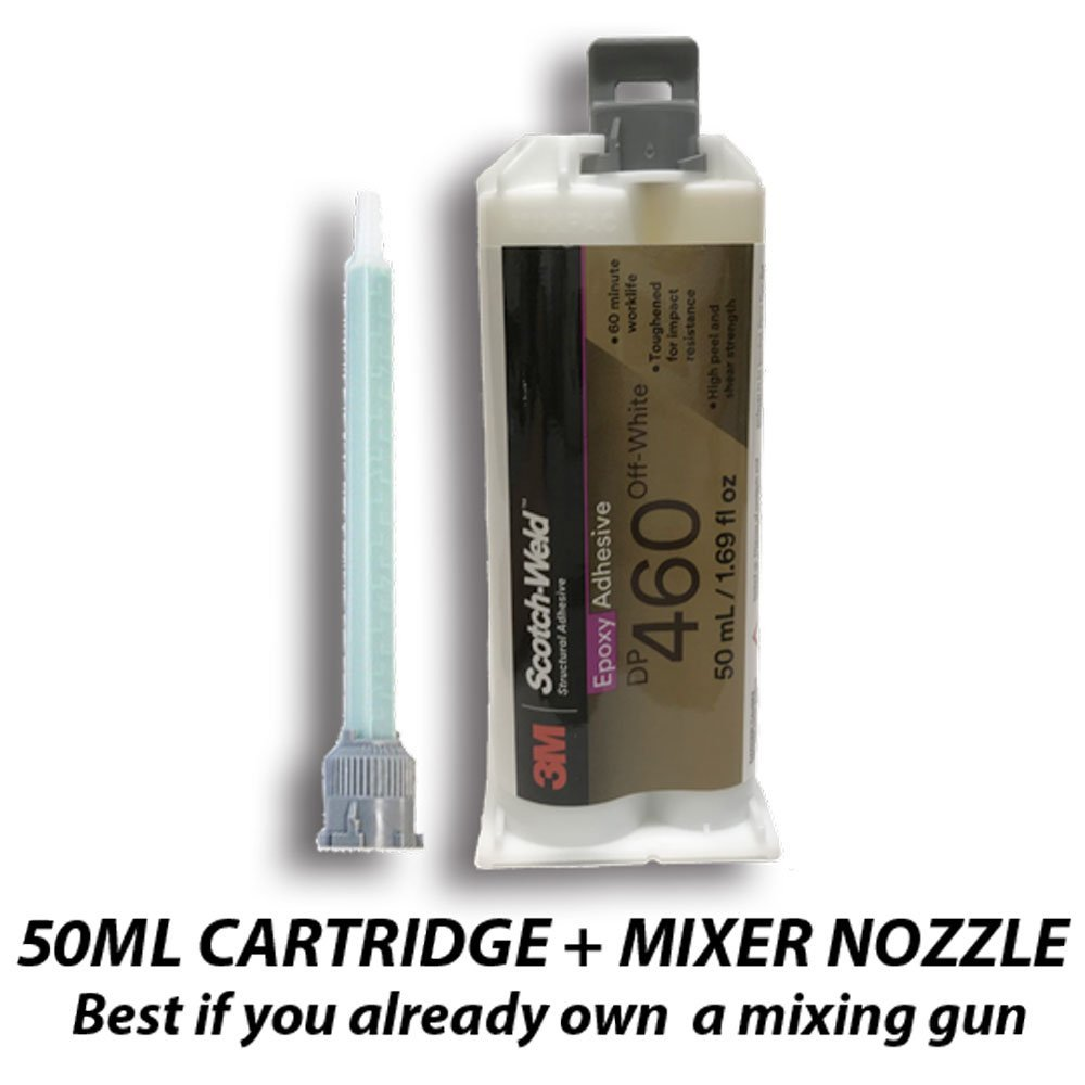 3M ScotchWeld DP460 Off-White 60-Minute Toughened Epoxy Adhesive (50ml/1.7oz Cartridge)