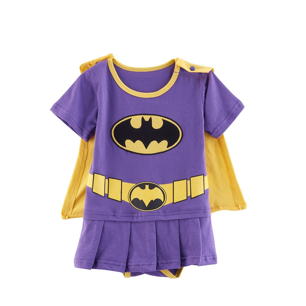 Batgirl-inspired Infant Dress (12-18 Months)