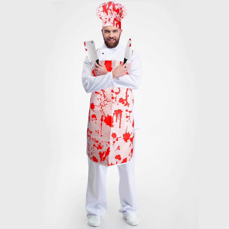 Amazon.com: Juego de disfraces de carnicero sangriento para ...