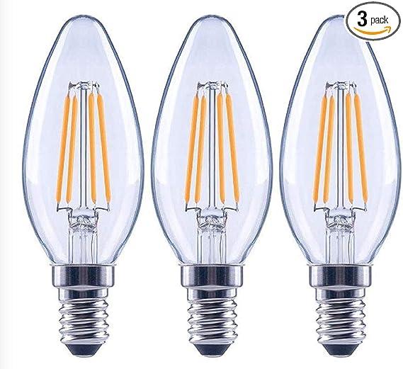 Ecosmart 60 Watt Equivalent B11 Dimmable Clear Filament Vintage Style Led Light Bulb Soft White 3 Pack Amazon Com