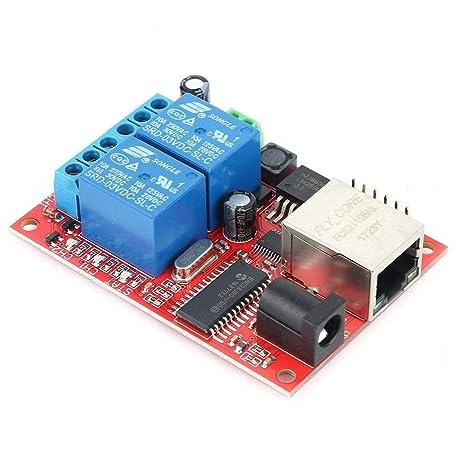 Ballylelly LAN Ethernet Tarjeta de relé de 2 vías ...