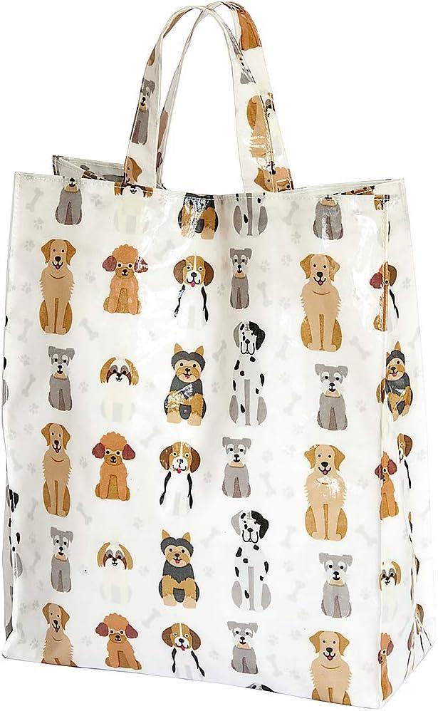 bolsa reutilizable de la compra con perros