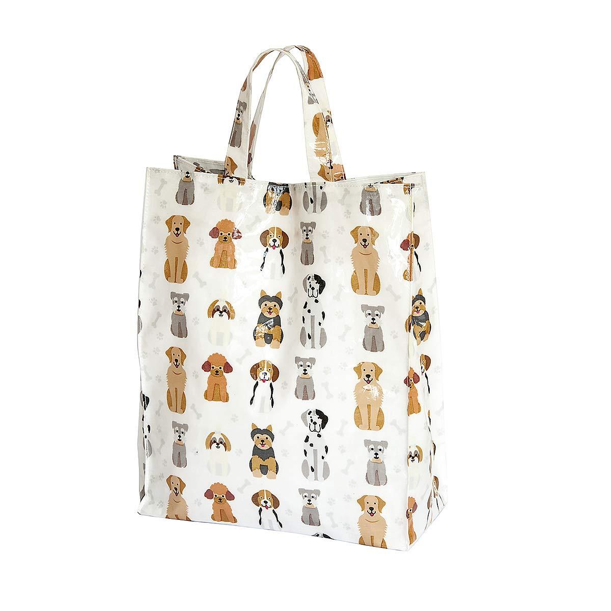 a Juego Pa/ño de Cocina y Bolsa de la Compra Reutilizable Regalo para los Amantes de los Perro Dise/ño de Perros SPOTTED DOG GIFT COMPANY Juego de 2