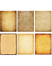 Stationery Paper - Old Fashion Aged Classic Antique & Vintage Assorted Design – Double-side Parchment Paper - Perfect for Certificate, Crafting, Invitations & other Art Projects - 8.5x11 Inches (120)