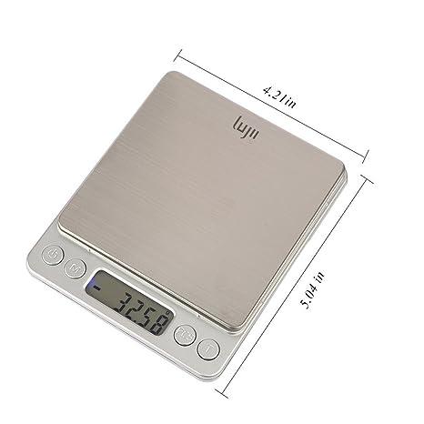 Báscula de precisión lujii 500 g x 0,01 g digital funda de cocina Food Scale