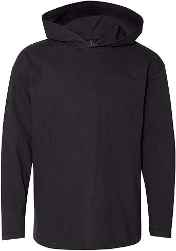 987B Anvil Long-Sleeve Hooded T-Shirt