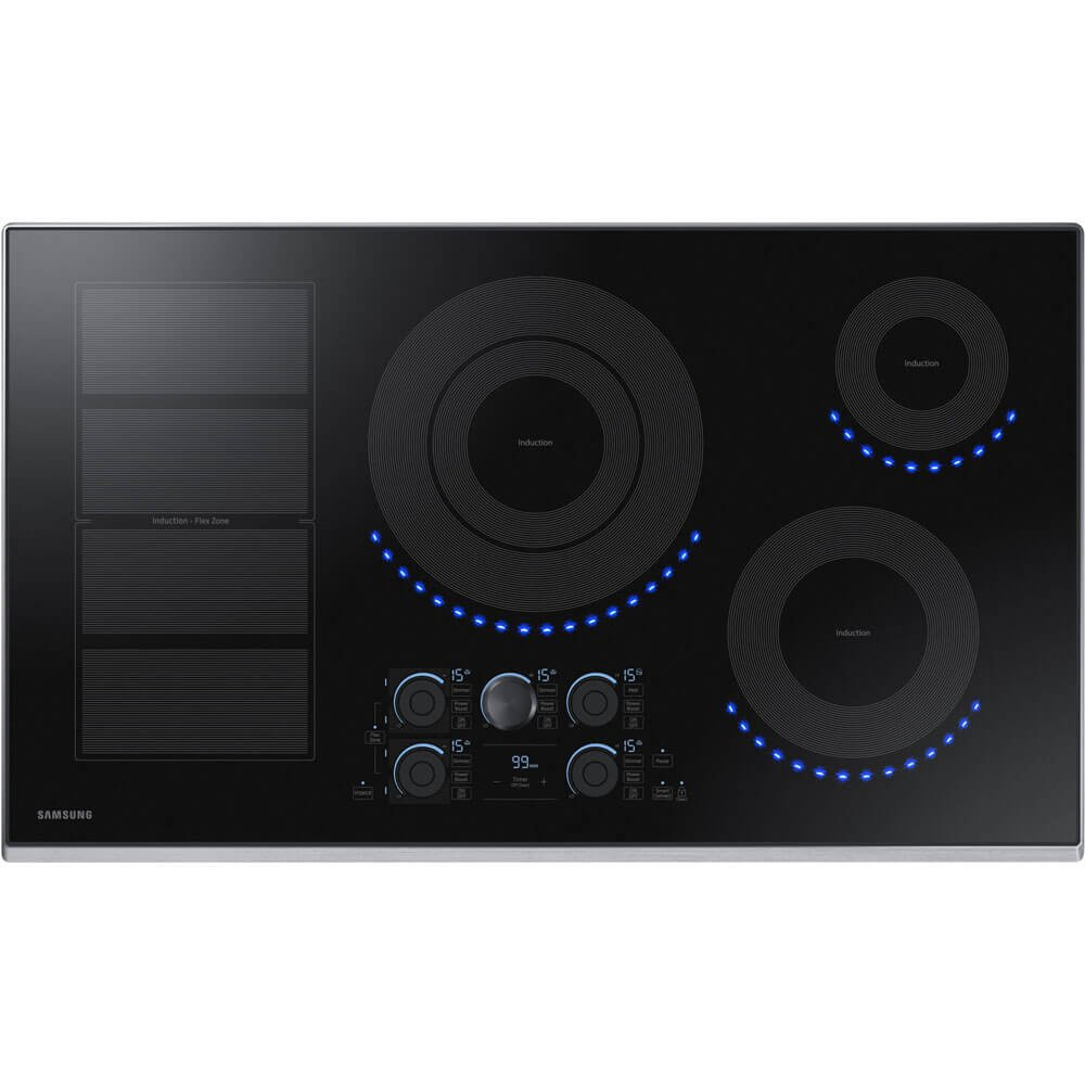 Samsung 36 inch Stainless steel Induction Cooktop with Flex Zone NZ36K7880US